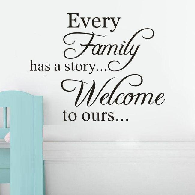 Samolepka na zeď do vašeho interiéru- family 1