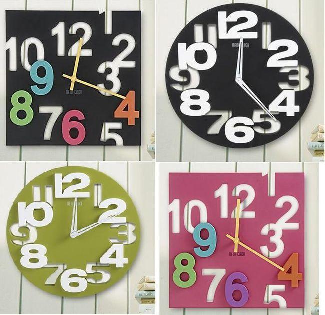 Oryginalny designowy zegar ścienny  - 5 wersji 1