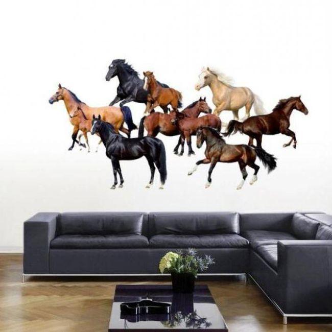 Fali matrica gyönyörű lovakkal 1