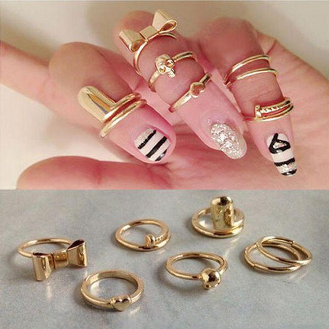 Sada 7 kusů prstýnků 1