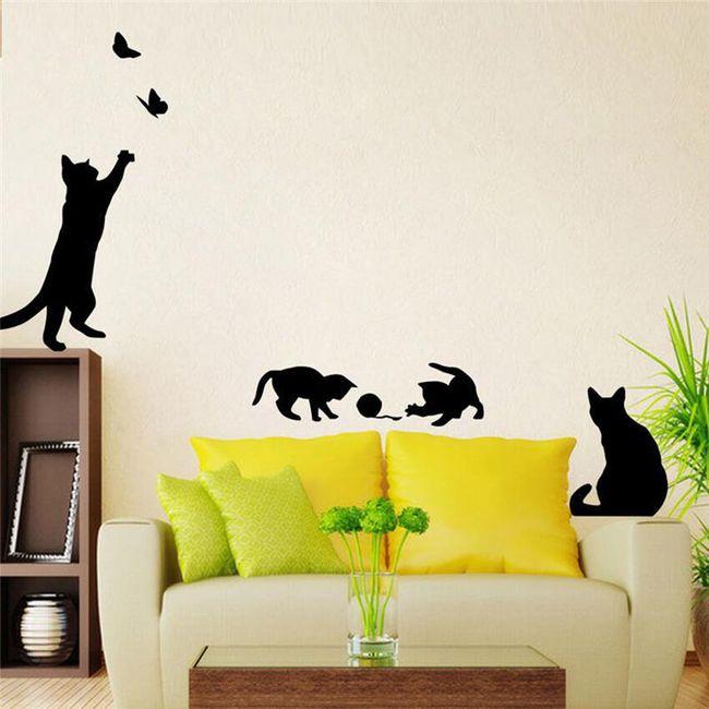 Stenska nalepka - mačke 1