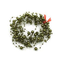 Barevný řetěz s umělými perličkami