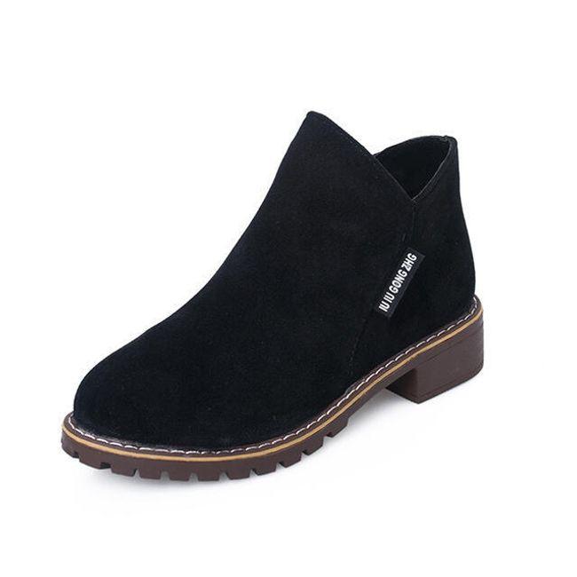 Dámské semišové boty - Černá-37 1