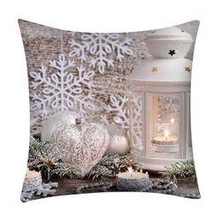 Новогодняя наволочка для подушки CF01