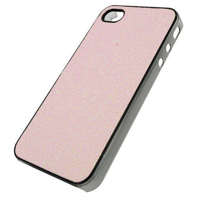 Plastový ochranný kryt na iPhone 4 a 4S - růžový motiv diamantu 1