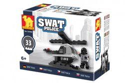 Stavebnica Dromader Swat polícia vrtuľník 32 dielikov v krabičke 10x7x4,5cm RM_23292900