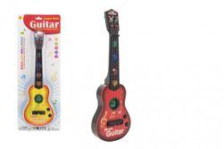 Gitara plast 41cm na batérie so zvukom so svetlom 2 farby na karte RM_00311979