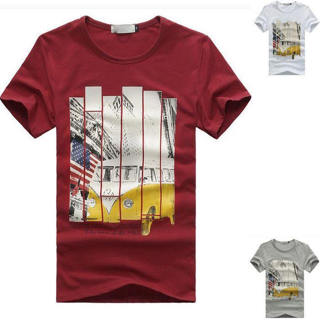 Pánské tričko s barevným potiskem - 3 barvy 1