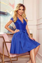 ANNA šaty s výstřihem a krajkou - Royal Blue LT_193578