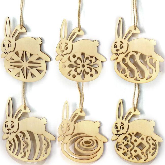 Dekorace na Velikonoce - 6 kusů 1
