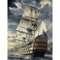 Keret nélküli kép egy hajóval