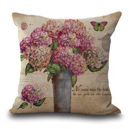 Navlaka za jastuk - cvetni motivi