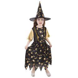 Dětský kostým čarodějnice/Halloween (M) RZ_423237
