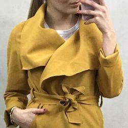 Ženski flis kaput - žuti