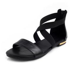 Sandały damskie z paskami
