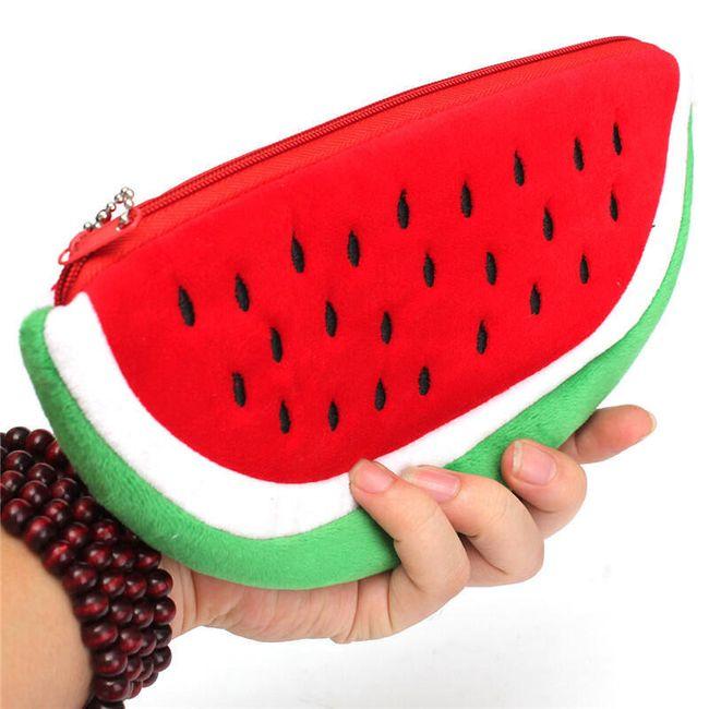 Plyšový penál ve tvaru melounu 1