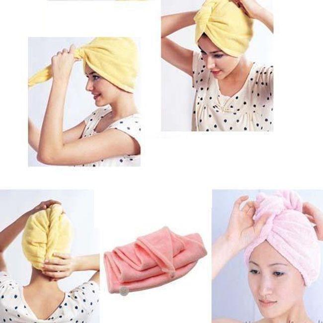 Кърпа тюрбан за мокра коса  1