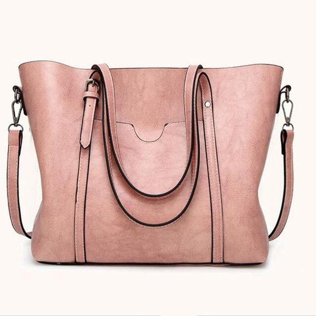 Elegantní velká kabelka s uchy - 9 barev 1