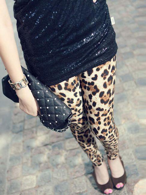 Dámské legíny s leopardím vzorem 1