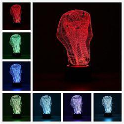 Fáraó alakú 3D-s asztali lámpa