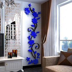 3D falmatrica mászó virág motívummal