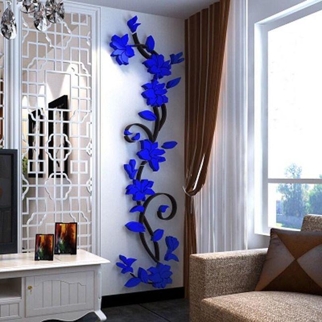 Autocolant 3D pentru perete - floare 1