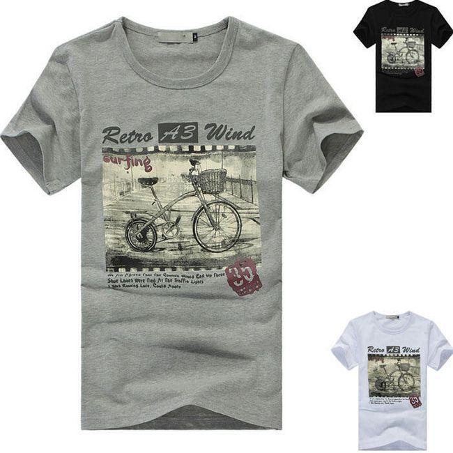 Pánské tričko s retro motivem - 3 barvy 1