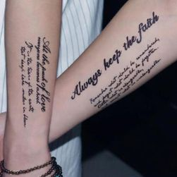 Временна татуировка Letter