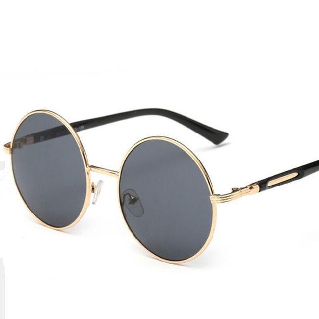 Kulaté sluneční retro brýle - 7 barev 1