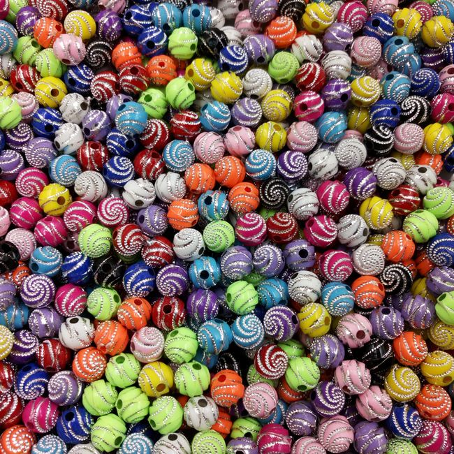 Okrasne akrilne kroglice - 13 barv 1