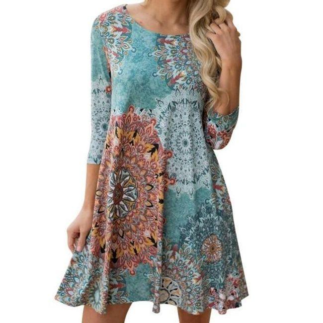 Dámské boho šaty s mandalou 1