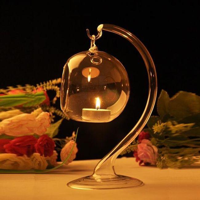 Suport din sticlă pentru lumânări 1