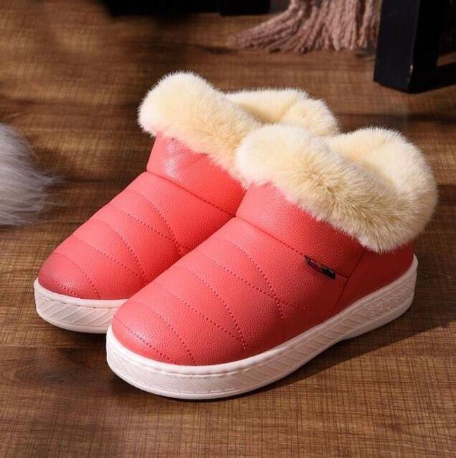 Niske zimske cipele sa veštačkim krznom 1