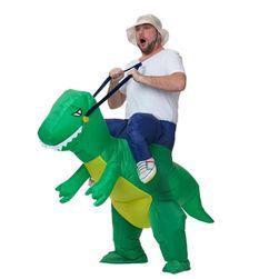 Kostim na naduvavanje - jahač na dinosaurusu