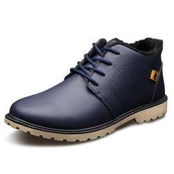 Pánské zimní boty s vnitřním kožíškem - 2 barvy
