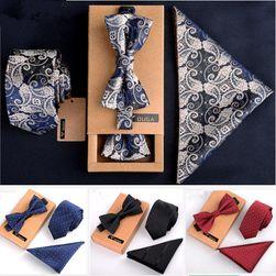 Pánský motýlek a kapesníček a kravata PMK6
