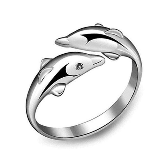 Állítható gyűrű delfinek formájában 1