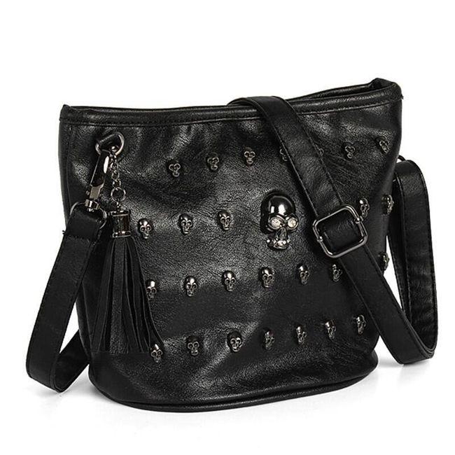Dámská taška přes rameno s lebkami 1