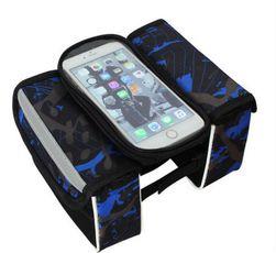 Brašna na rám kola s průzorem na mobilní telefon Leeroy