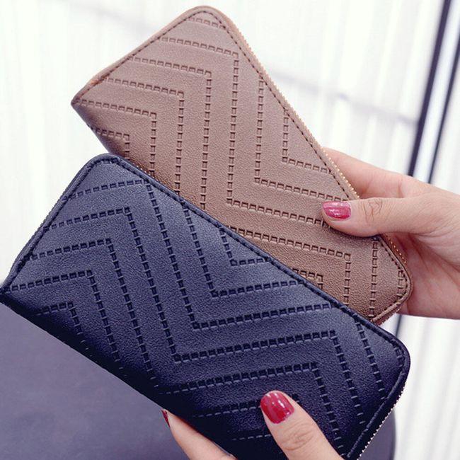 Hosszú pénztárca bojttal - 4 szín