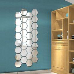 Zrcadlová samolepka - 12 kusů, 5 barev