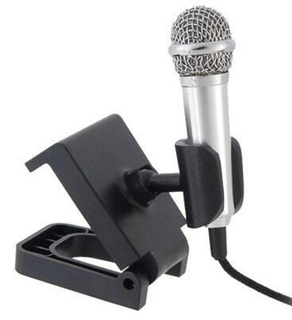 Stříbrný mini mikrofon na notebook 1
