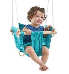 Dvěděti Dětská textilní houpačka 100% bavlna tyrkysová RZ_119382