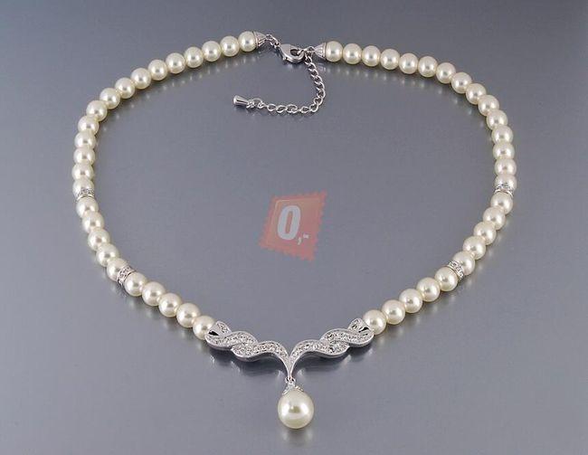 Perlový náhrdelník, 36cm 1