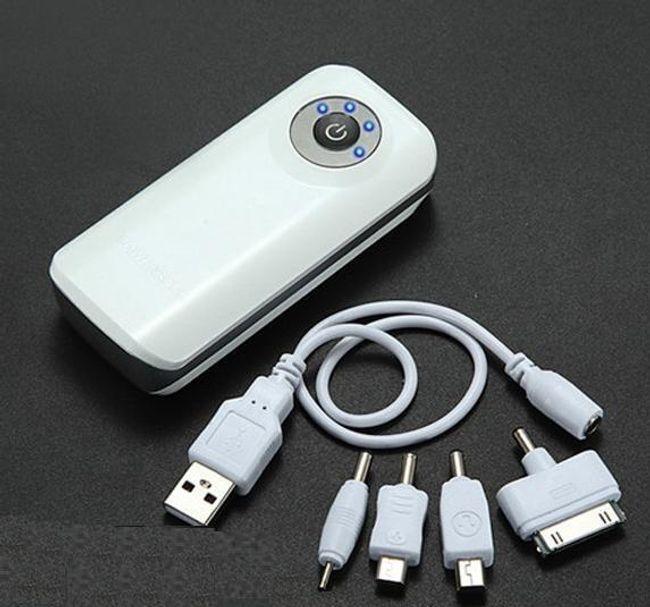 USB nabíjecí stanice 5600mAh - 4 konektory 1
