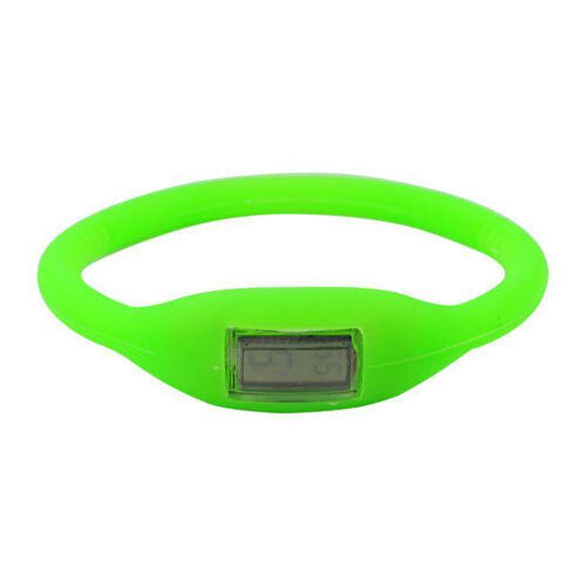 Cyfrowy silikonowy zegarek ION - Zielony 1
