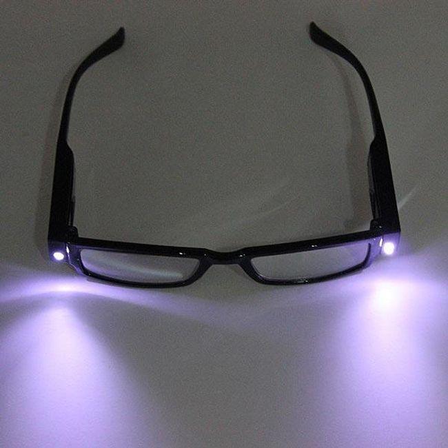 Диоптрические очки для чтения с LED подсветкой 1