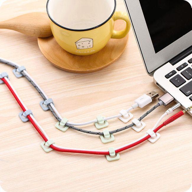 Set samoljepljivih stalaka za kablove - 18 komada 1