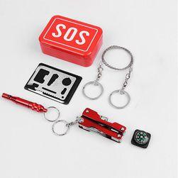 SOS box do přírody s multifunkčním nouzovým vybavením