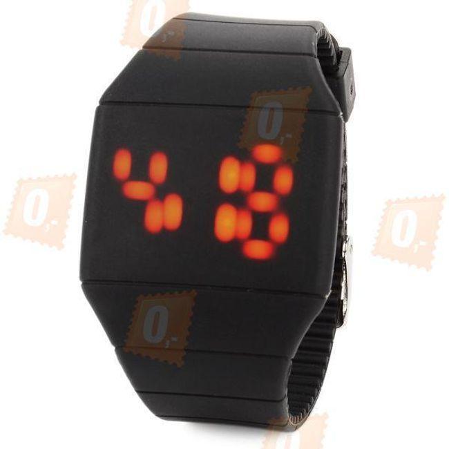 Unisex zegarek z dotykowym LED displayem - kolor czarny 1